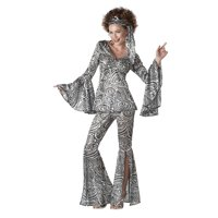 Plus Size Women's Foxy Lady Disco Costume