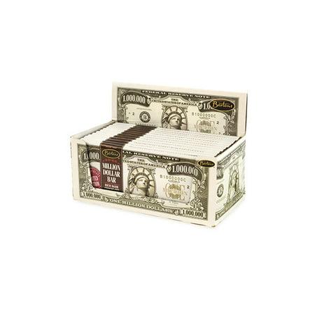 Bartons Million Dollar Bar Dark Chocolate, 2 oz, 12 Count, 2 Pack (Dollar Bear)