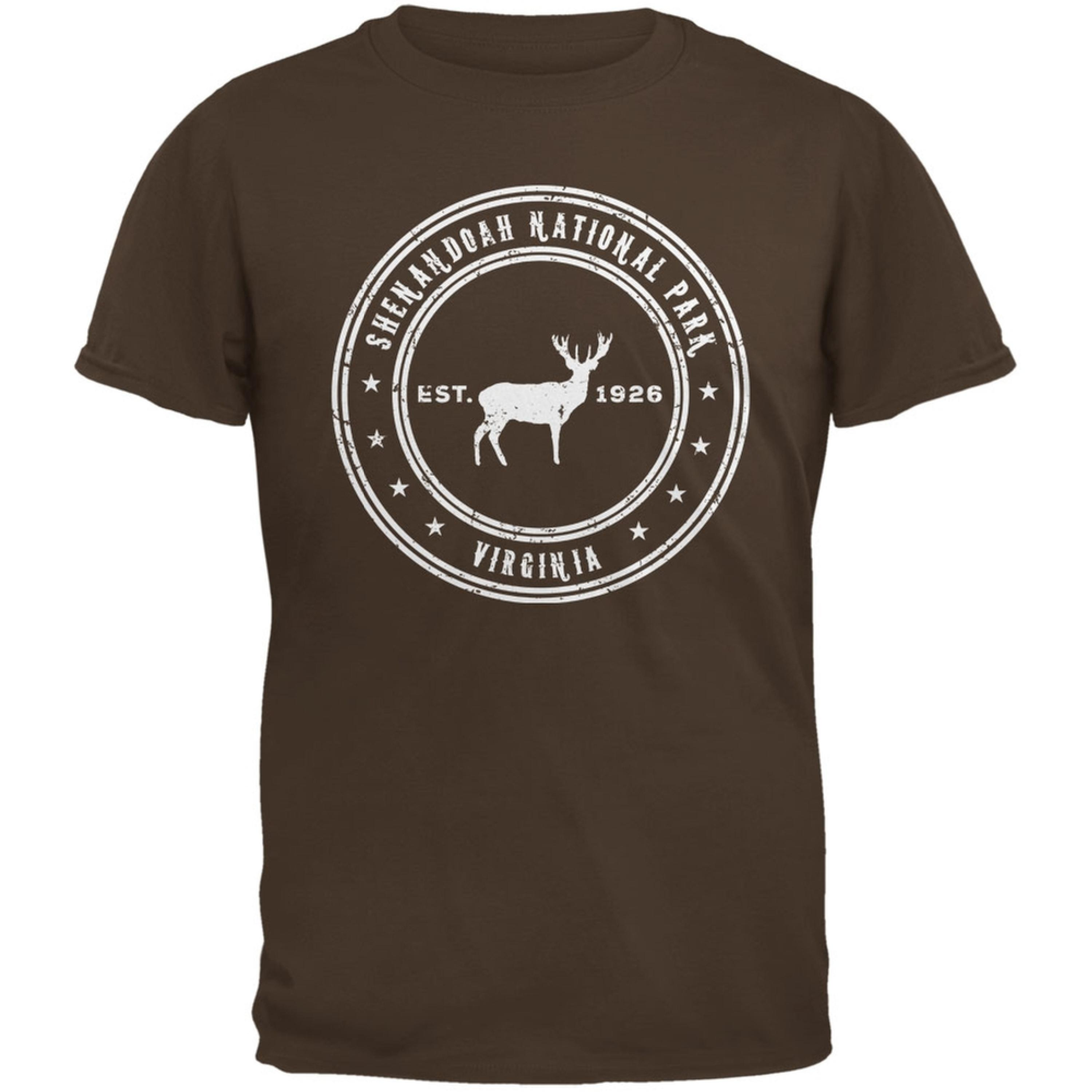 Shenandoah National Park Brown Adult T-Shirt