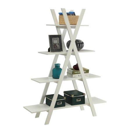 Pemberly Row 4 Shelf Bookcase in White - image 1 of 3