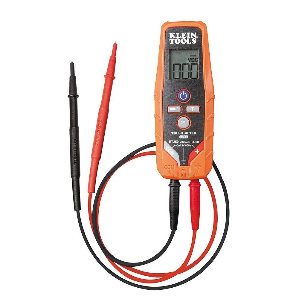 AC/DC Voltage/Continuity Tester ET250, Automatically selects voltage or continuity; automatically powers on when any measurement is attempted By Klein Tools
