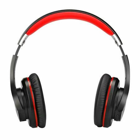 Ausdom AH3 High-end Wireless Apt-X Low Latency Bluetooth Headphone Black & Red