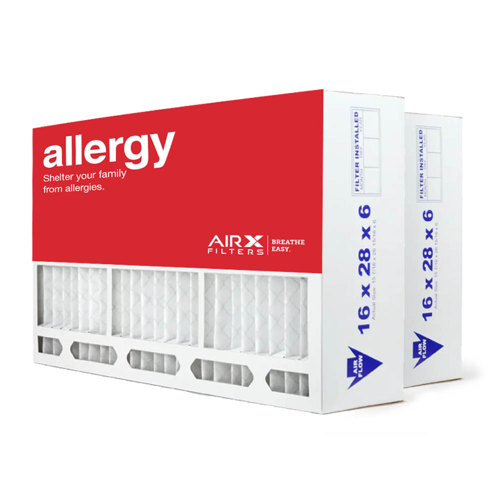 AIRx Filters Allergy 16x28x6 Air Filter MERV 11 Replacement for Aprilaire Space-Gard 401 to Fit Media Air Cleaner Cabinet Aprilaire Space-Gard 2400, 2-Pack