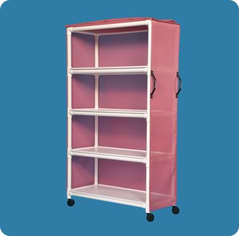 "Standard Line Linen Cart with 45"" x 20"" Removable Shelves"