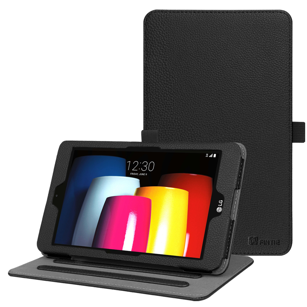 Fintie Case for T-Mobile LG G Pad X2 8.0 Plus Model V530 Tablet - Multi-Angle Viewing Folio Stand Cover, Black