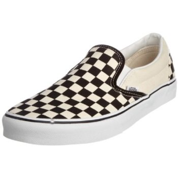 vans unisex classic slip-on (checkerboard) blk&whtchckerboard/wht skate shoe 13 men - Checkered Vans