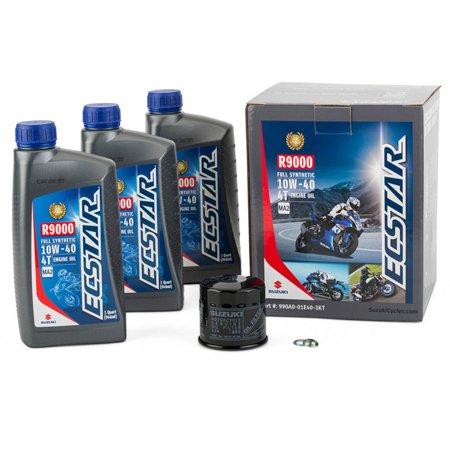 Suzuki ECSTAR Full-Synthetic 10W40 Oil Change Kit 3 Quarts 990A0-01E40-3KT