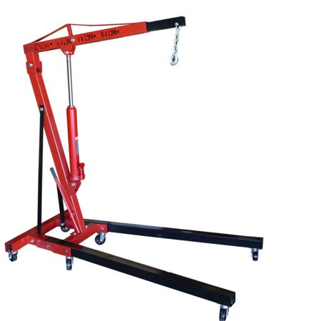 Hiltex 2 Ton Folding Manual Hydraulic Cherry Picker Engine Crane Shop Press Hoist (Folding Shop Crane)