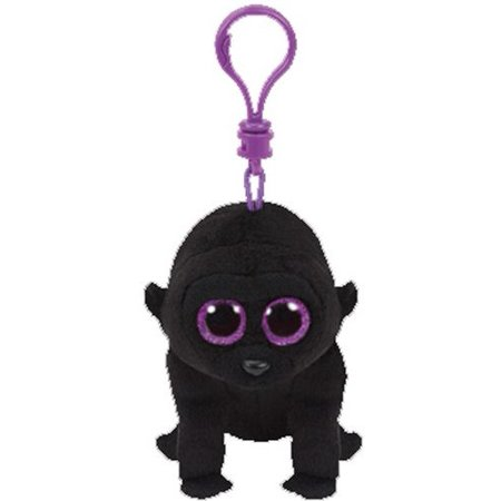 George Gorilla Beanie BooClip 5 inch - Stuffed Animal by Ty (35026) (Gorilla Stuffed Animals)