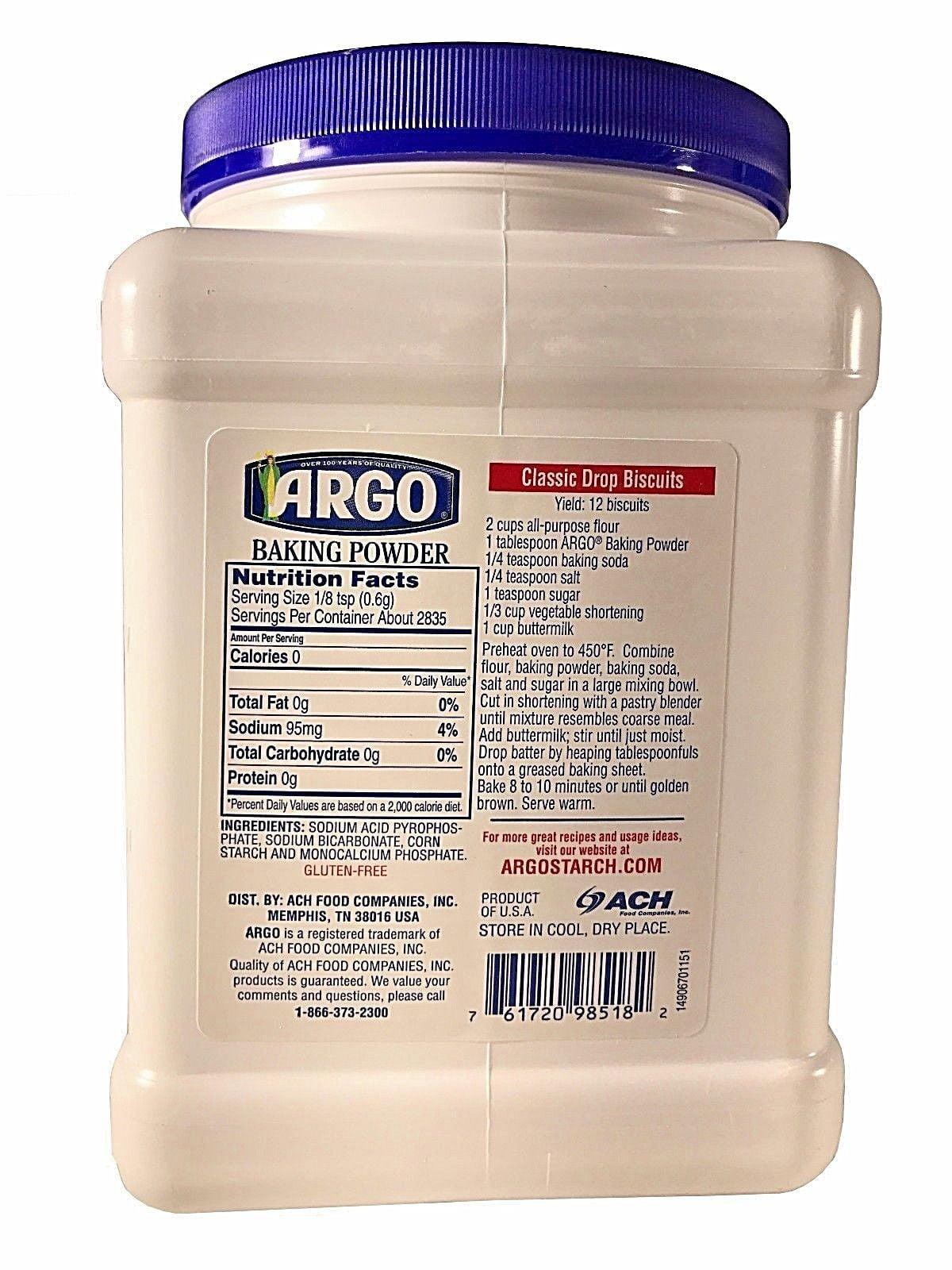 ARGO Baking Powder, 60 Oz