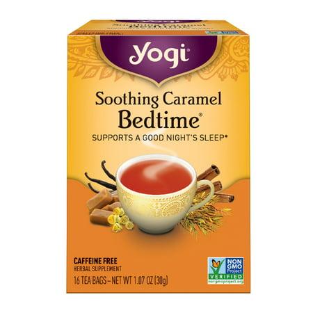 (3 Boxes) Yogi Tea, Soothing Caramel Bedtime Tea, Tea Bags, 16 Ct, 1.07