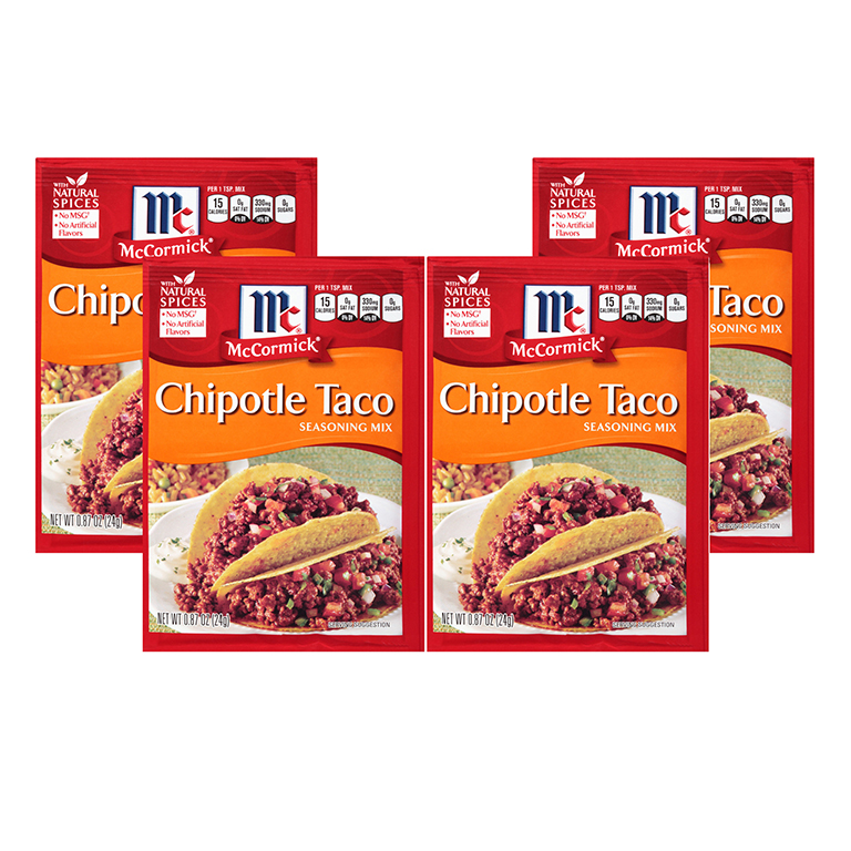 McCormick Seasoning Mix Chipotle Taco, 0.87 OZ (4 Pack)