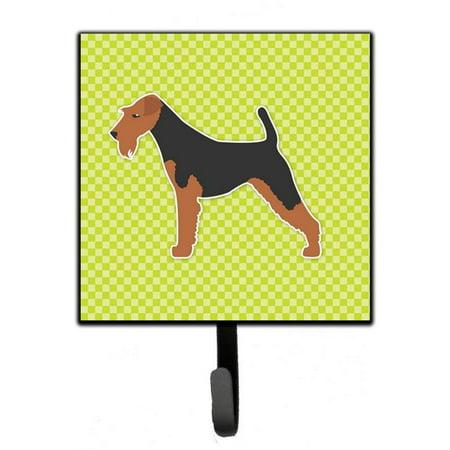 Carolines Treasures BB3785SH4 Welsh Terrier Checkerboard Green Leash or Key Holder - image 1 of 1