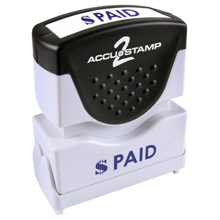 Accustamp2 Pre-Inked Message Stamp, PAID, 1/2