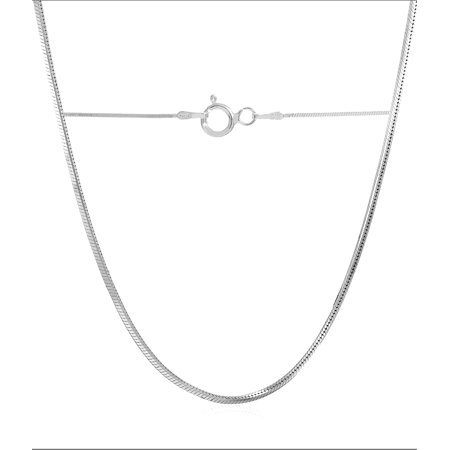 Spade Italian - PORI Jewelers Italian Sterling Silver Square Snake Chain Necklace, 24