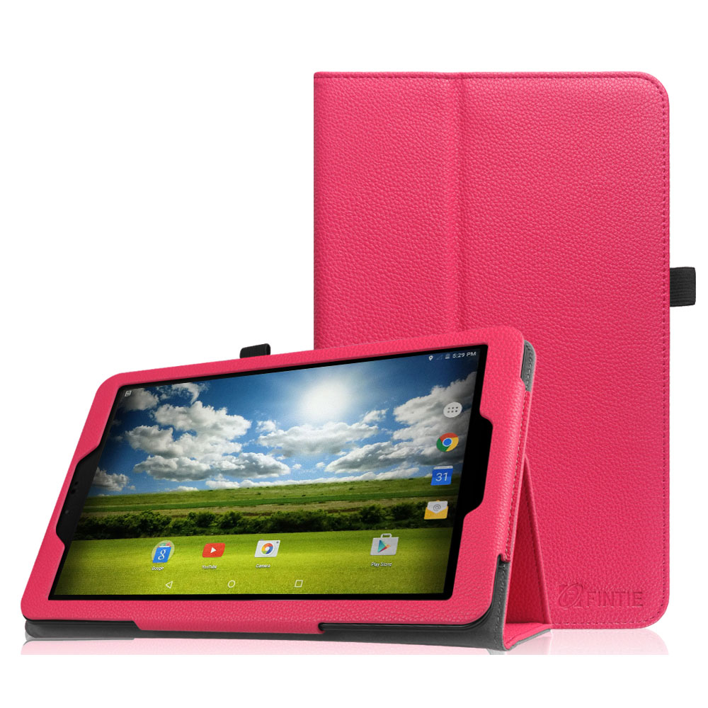 Sprint Slate 10 Tablet Case - Fintie Premium PU Leather Standing Folio Cover with Stylus Holder, Magenta