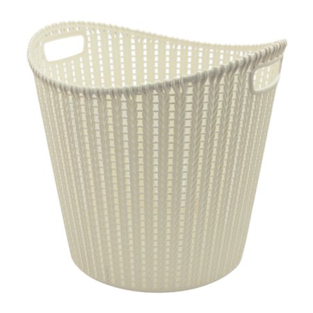 Lotus USA Decorative Rattan Basket - Round Tall - White 3 Pack