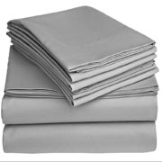 Solid 100GSM Luxury Microfiber Sheet Gray -