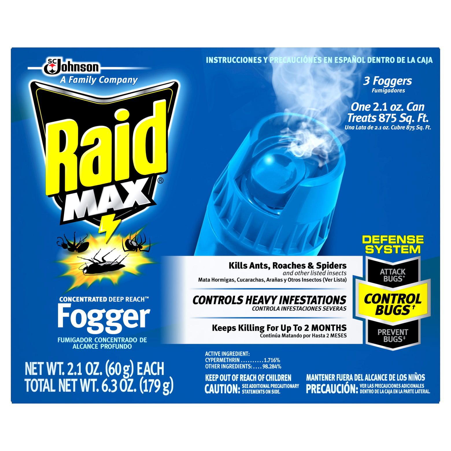 Raid Max Concentrated Deep Reach Fogger, 3ct