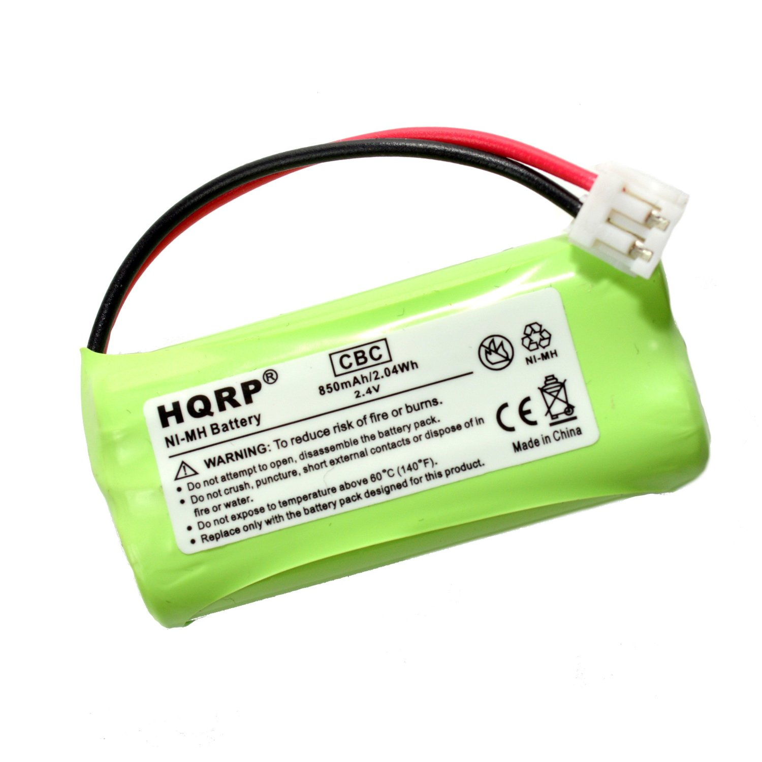 HQRP Cordless Telephone Battery for AT&T / Lucent BT18433, BT28433, General Electric GE 5-2734, Gold Peak GP70AAAH2BMJZR Replacement