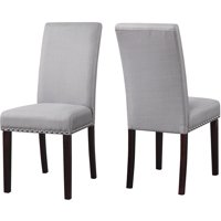 Walmart.com deals on 2-Pack DHI Nice Nail Head Upholstered Dining Chair