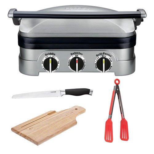 Cuisinart gr 4n griddler stainless steel grill griddle - Cuisinart griddler grill panini press ...