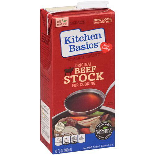 Kitchen Basics Original Beef Stock for Cooking, 32 fl oz