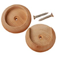 "200 Pcs 2"" Closet Pole Sockets Set Made of hardwood.  Use for 1-3/8"" rods Packaged per set.  Set includes: plain socket, slotted socket & 2 # 6 x 1 screws Don't get caught with those cheap pl"
