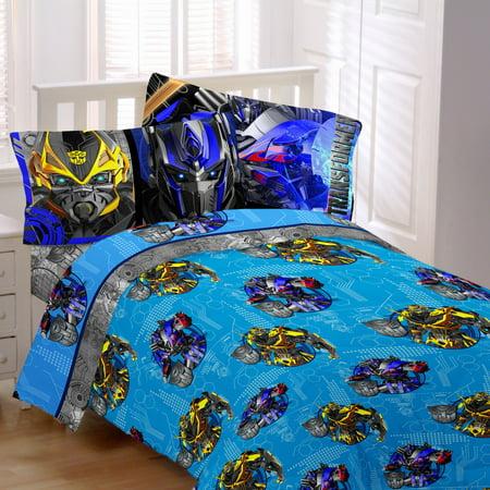 transformers 4 alien machine sheet set twin. Black Bedroom Furniture Sets. Home Design Ideas