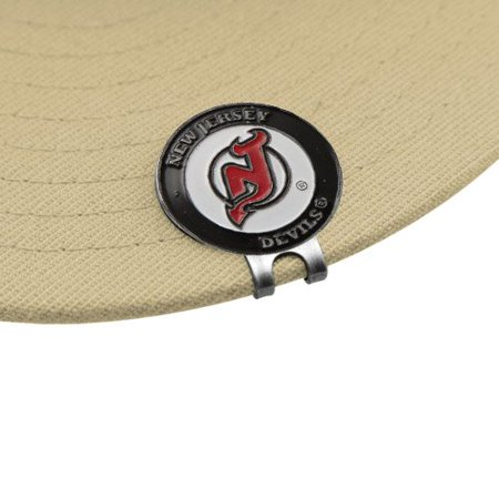 NHL New Jersey Devils Magnetic Cap Clip & Two Ball Markers By Football (Marker Jersey)