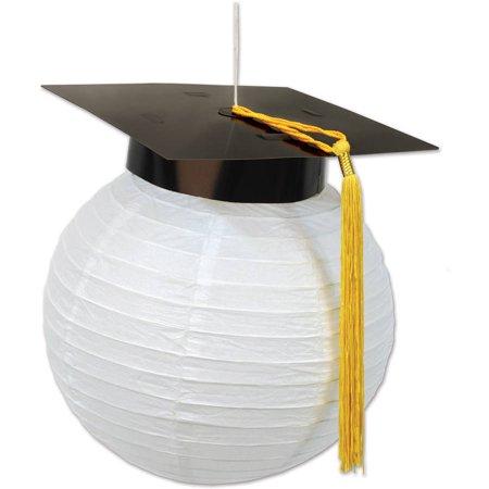 Grad Cap Paper Lanterns, 2pk