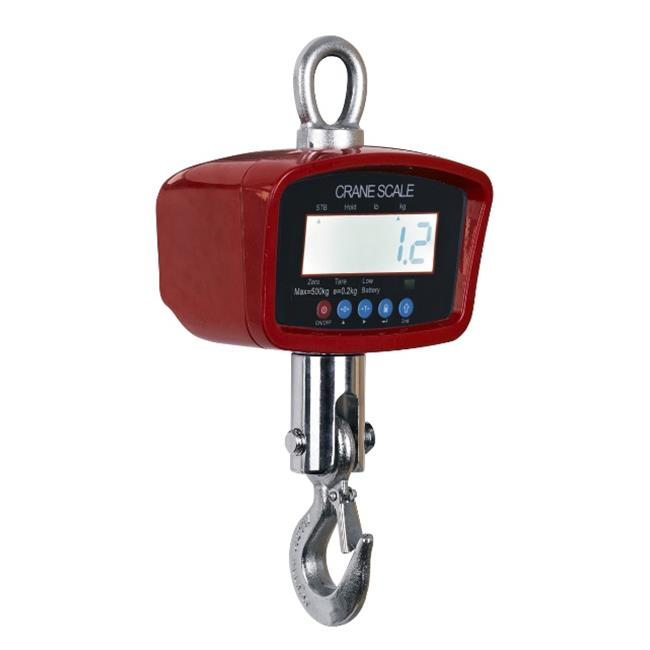 Optima Scales OP-924B-1000 General Purpose Crane Scale - 1000 lbs x 0.5 lb. LCD Display