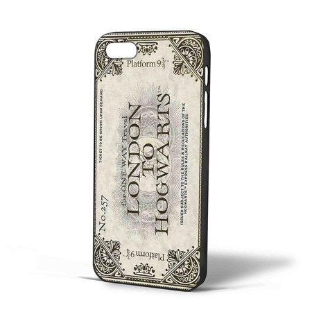 Ganma Designs Harry Potter London to Hogwarts Ticket Case For iPhone Case (Case For iPhone 6 White) (Egg London Halloween Tickets)