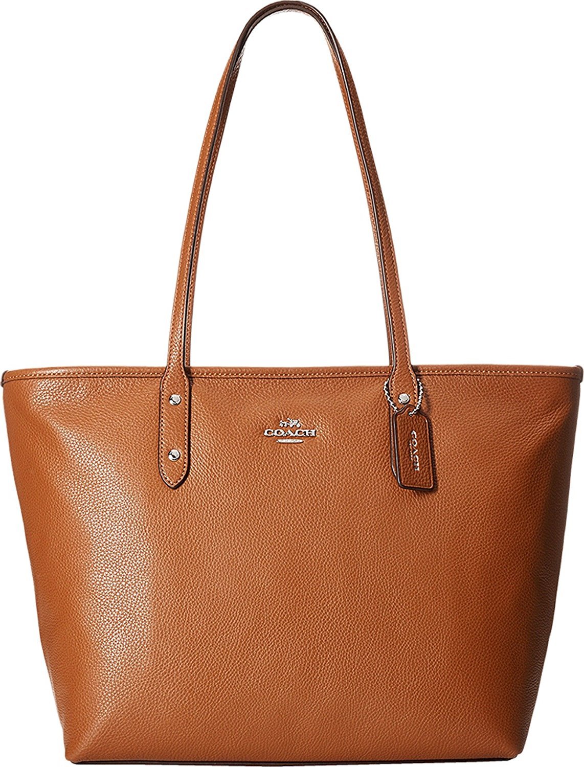 ... low price coach 37155m womens pebbled city zip tote sv saddle tote  c6c9a 0dbec 3cbb6642da769
