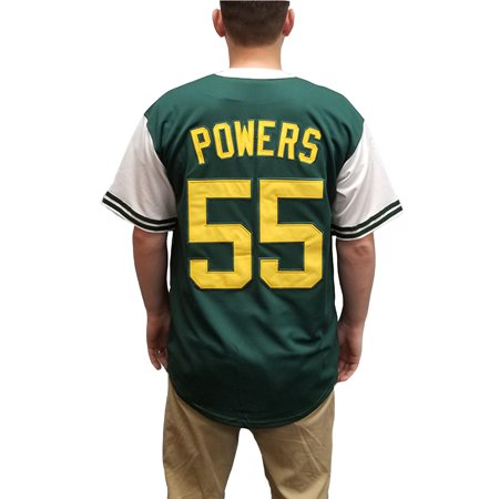 Kenny Powers 55 Charros Baseball Jersey Eastbound & Down Mexico Costume Uniform