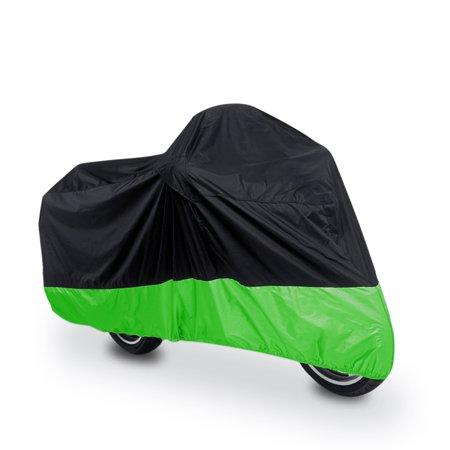 Harley Davidson Bike Covers >> Black Green Waterproof Motorcycle Bike Cover Rain Outdoor Protector