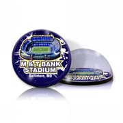 Paragon Innovations M&TBankMAGSTADIUM Crystal magnet with M&T Bank stadium image  giving a magnifying effect.-NFL