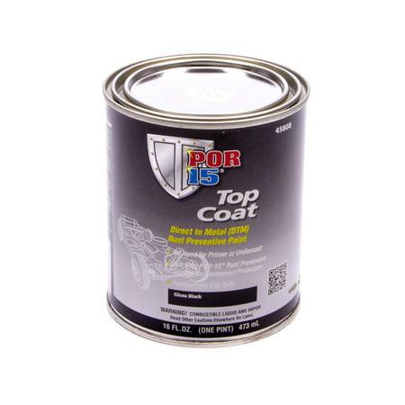 Top Coat Paint >> Por 15 Top Coat Paint Black 1 Pt Can P N 45808