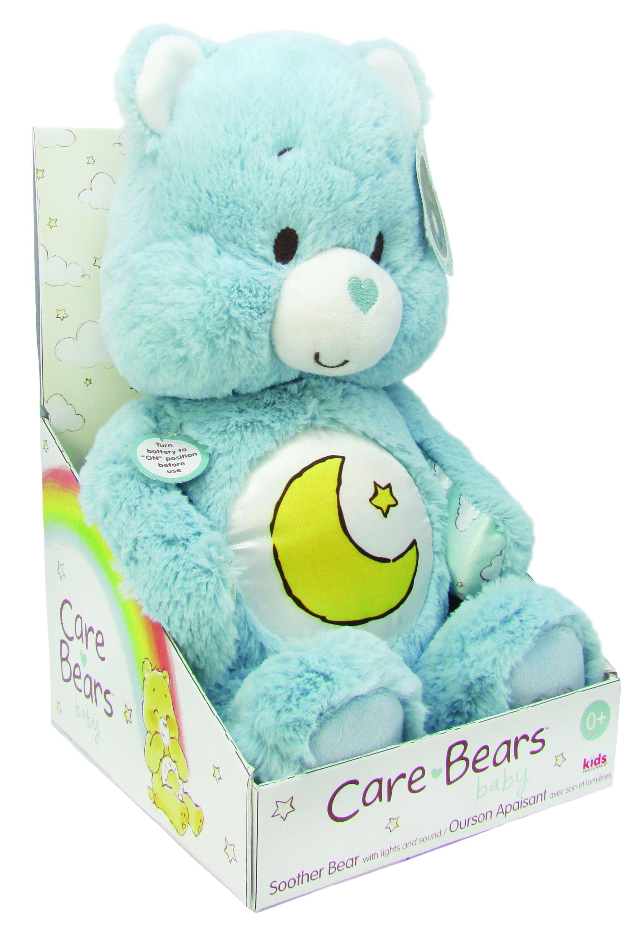 Message Recorder Stuffed Animals, Care Bears Bedtime Bear Soother Bear Plush With Music Lights Walmart Com Walmart Com