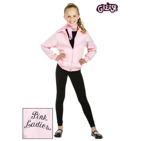 Grease Pink Ladies Jacket For Kids (Child Deluxe Pink Ladies Jacket)