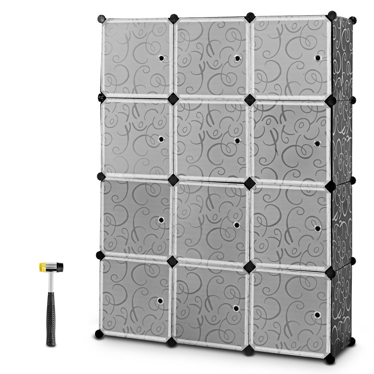 Costway DIY 12 Cube Portable Closet Storage Organizer ...