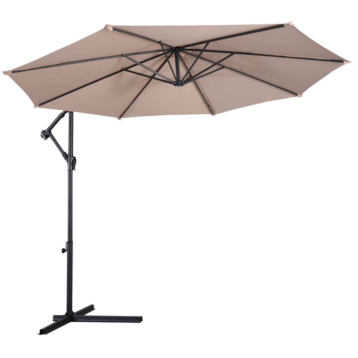 Ft offset cantilever umbrella outdoor patio umbrella w for Balcony umbrella