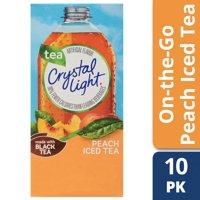 (20 Packets) Crystal Light Peach Iced Tea On-The-Go Powdered Drink Mix, 0.07 oz