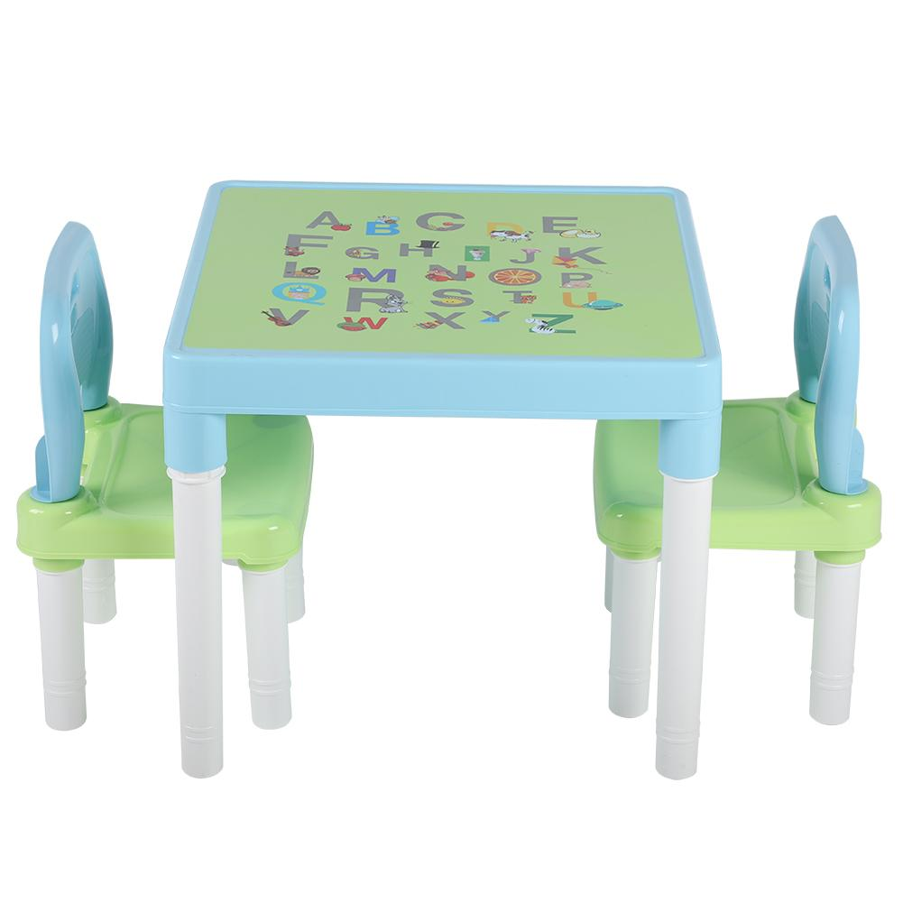 Walfront Childrens Kids Plastic Table And Chair Set