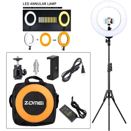 ZOMEI LED Ring Light Kit with Stand 50W 5500K Dimmable Lighting Kit Makeup Live for camera light Phone Camera(14