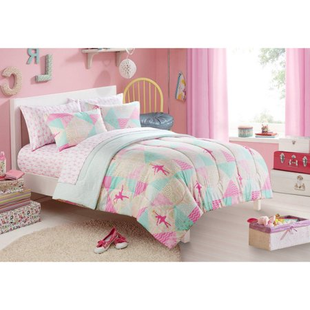 mainstays kids ballerina bed in a bag bedding set. Black Bedroom Furniture Sets. Home Design Ideas