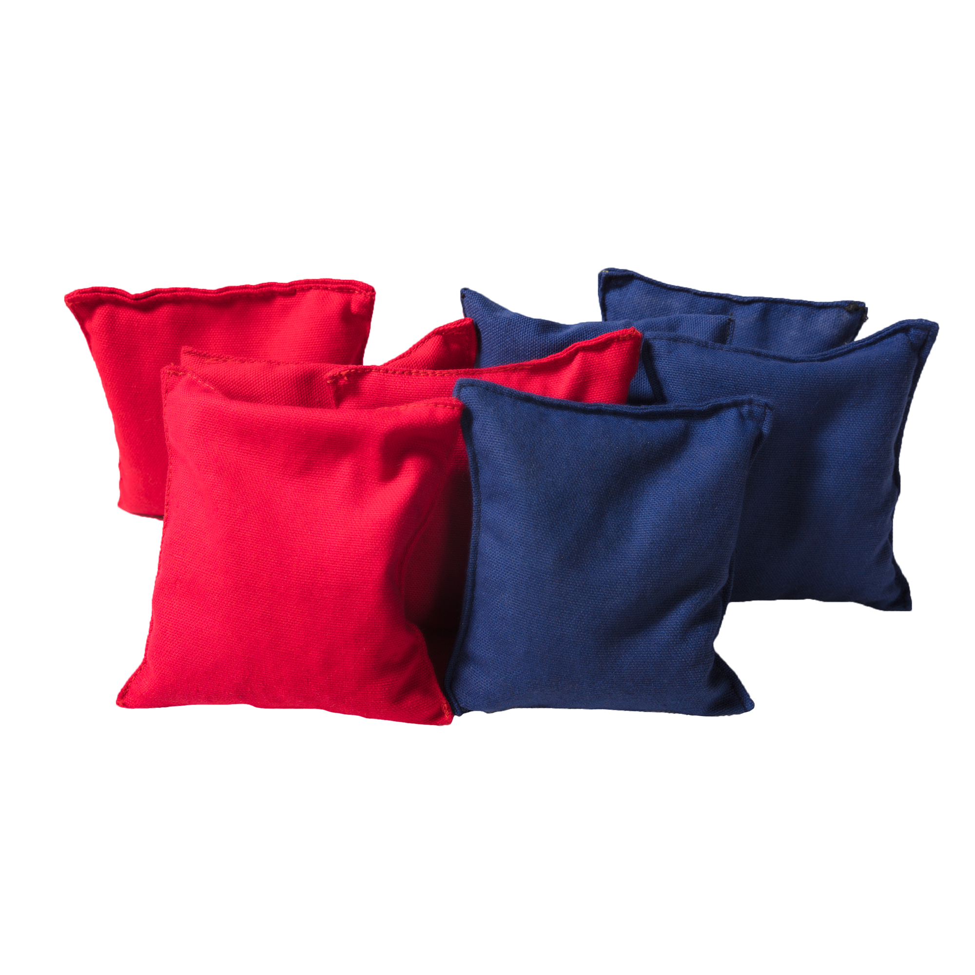 Cornhole Beanbags Replacement 4 Red & 4 Navy Blue (8 Bags) by Phelps Group