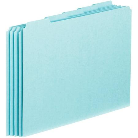 Pendaflex, PFXPN205, 1/5-cut Blank Tab Pressboard File Guides, 100 / Box
