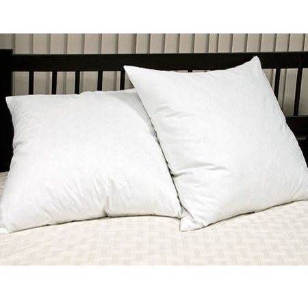 26 Inch Euro Pillow - Euro Square Feather Pillow - Set of 2