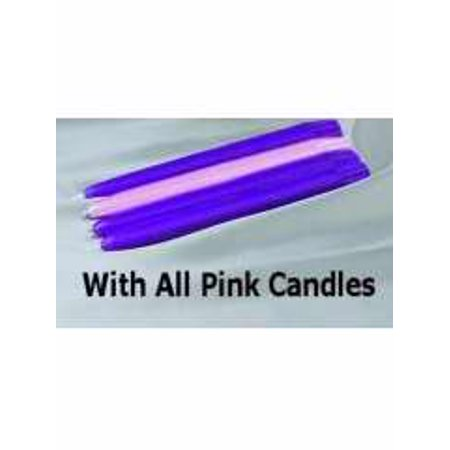 "Candle-Advent Tapers 15""-Pink (Pack Of 12)"